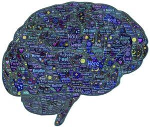 alzheimer cerebro lleno de palabras