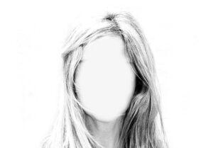 personalidad foto de mujer con la cara borrada